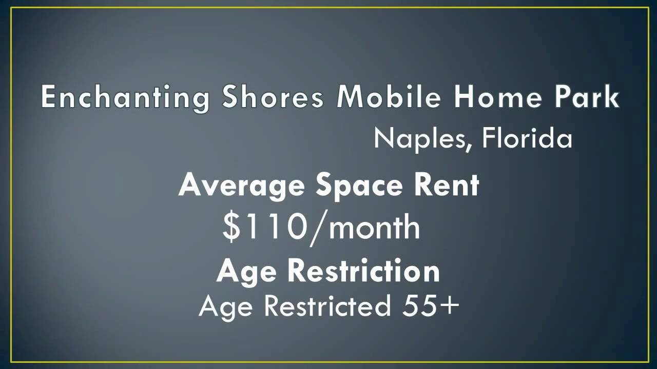 Florida Mobile Home Parks With Low Lot Rent