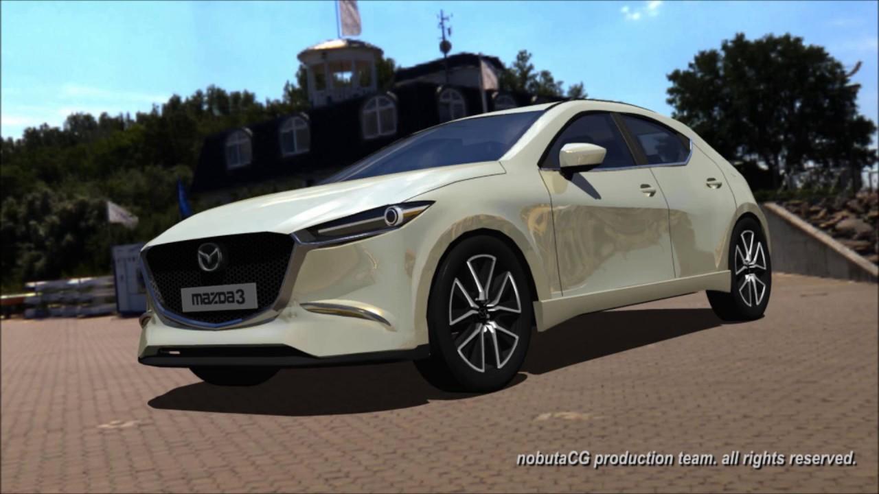 2019年フルモデルチェンジの新型マツダアクセラ。All New Mazda 3