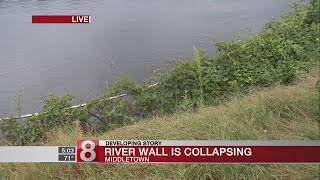 Officials in Middletown seek federal funding to fix collapsing wall along Connecticut River