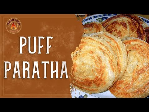 Hot & Spicy Puff Paratha | Street Food Style | South Indian Paratha | Indian Food Junction
