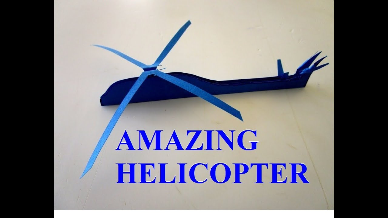 How To Make Paper Helicopter  Paper Helicopter That Flies