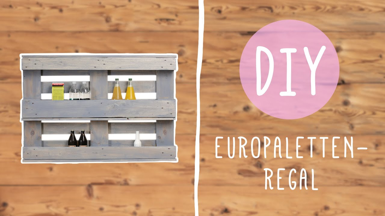 diy mit nina flaschenregal aus einer europalette youtube. Black Bedroom Furniture Sets. Home Design Ideas