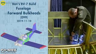 Van's RV-7 Build Fuselage Forward Bulkheads (099)