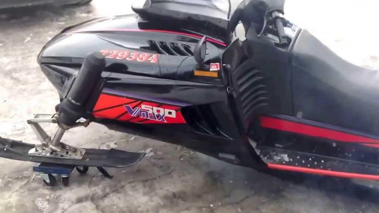 1994 yamaha v max 500cc youtube for 500 yamaha snowmobile
