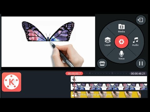 How to make handwrite white board animation video Kinemaster | butterfly...