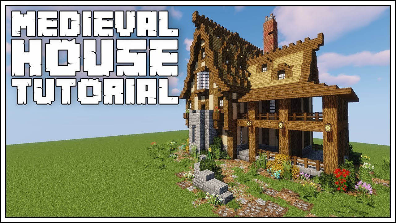 Minecraft Medieval House Tutorial Youtube