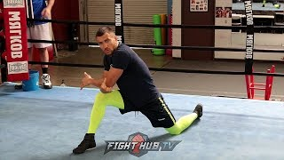 VASYL LOMACHENKO SHOWS YOU HOW TO STRETCH FOR A BOXING WORKOUT