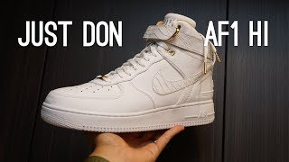 Nike x Just Don Air Force 1 Hi Overview