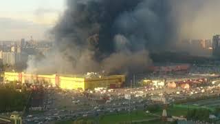 Москва. Синдика. Пожар 08.10.2017