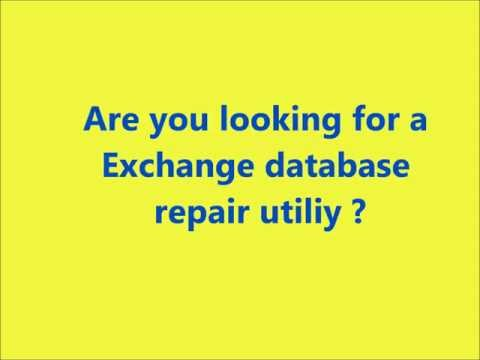 Exchange Server Recovery Software To Repair And Rebuild Corrupt Database Files