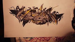 graffiti sketch 3d wildstyle [ KEON RCA ] 2012 HD
