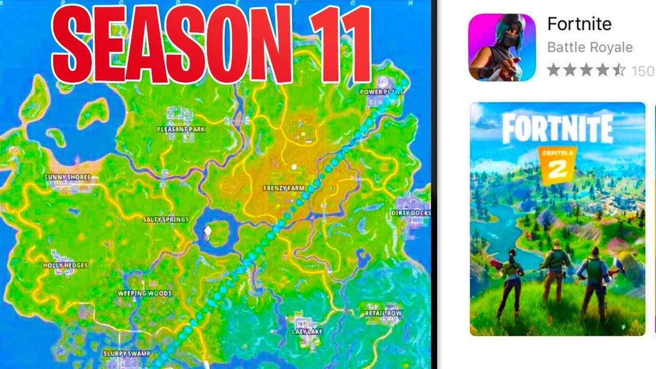 Season 11 Map Leaked In Fortnite Battle Royale Fortnite