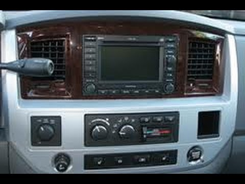 2002 Dodge Ram Radio Wiring Diagram How To Remove Radio Cd Changer Navigation From 2008