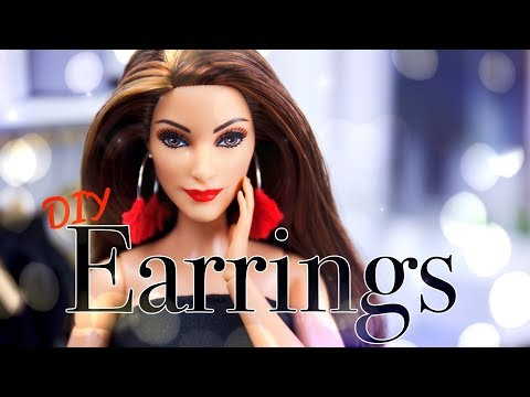 DIY - How to Make EASY Doll Earrings | Quick Craft
