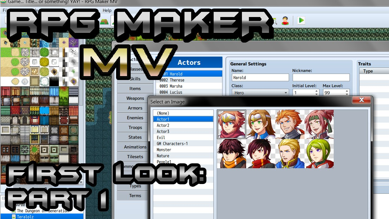 RPG Maker MV First Look 1: Database