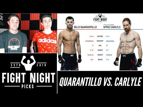 UFC Fight Night: Spike Carlyle Vs. Billy Quarantillo 2-Minute Prediction