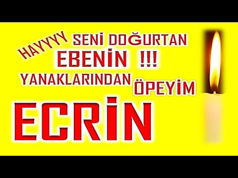 İyi ki Doğdun Ecrin İsme Özel Komik Doğum Günü Şarkısı