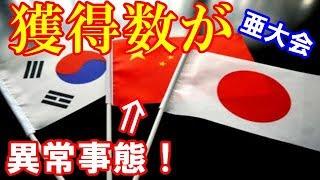 【悲報】アジア大会で、日中韓でメダル数がとんでもない差がついてしまう!!!