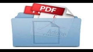 شرح طريقة انشاء ملف بي دي اف PDF