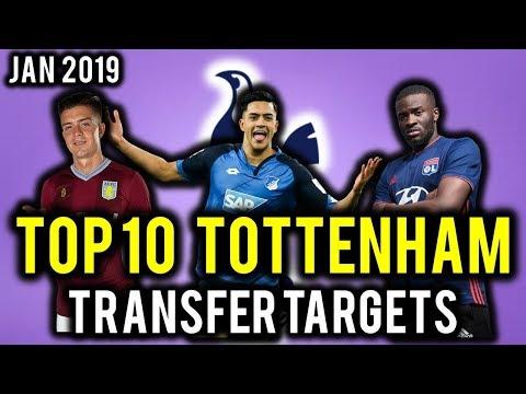 TRANSFER NEWS! TOP 10 Tottenham TRANSFER TARGETS January 2019 ft Grealish, N\'Dombele, Perrera