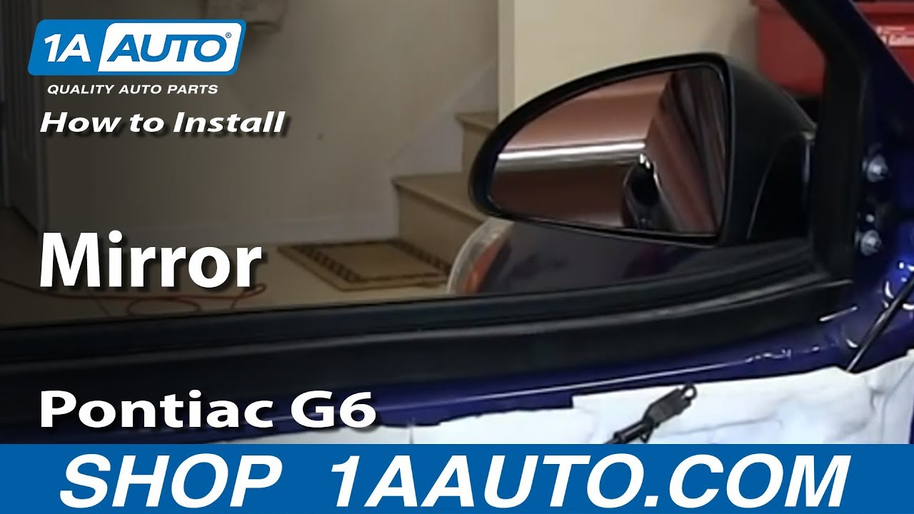 how to install replace broken side rear view mirror 2005 10 pontiac g6 [ 1280 x 720 Pixel ]