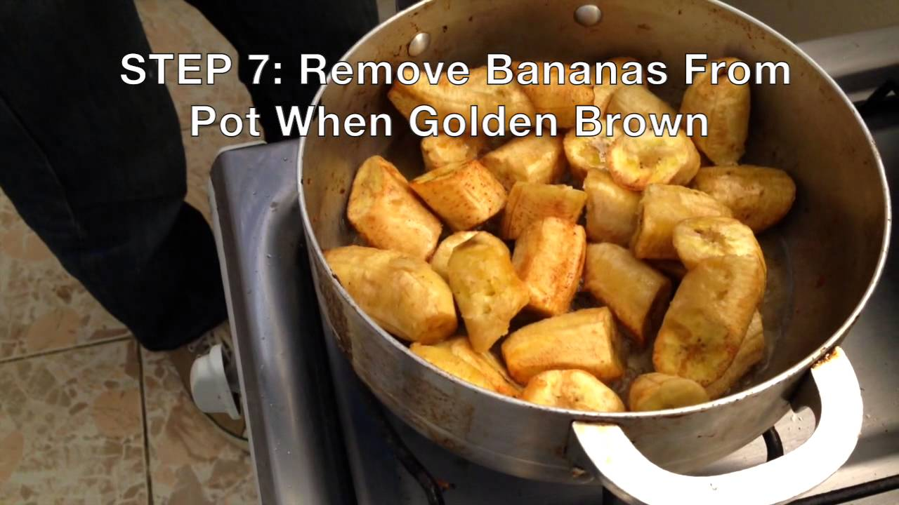 AIH 🇭🇹 How To Make Haitian Fried Plantains and Fries - YouTube