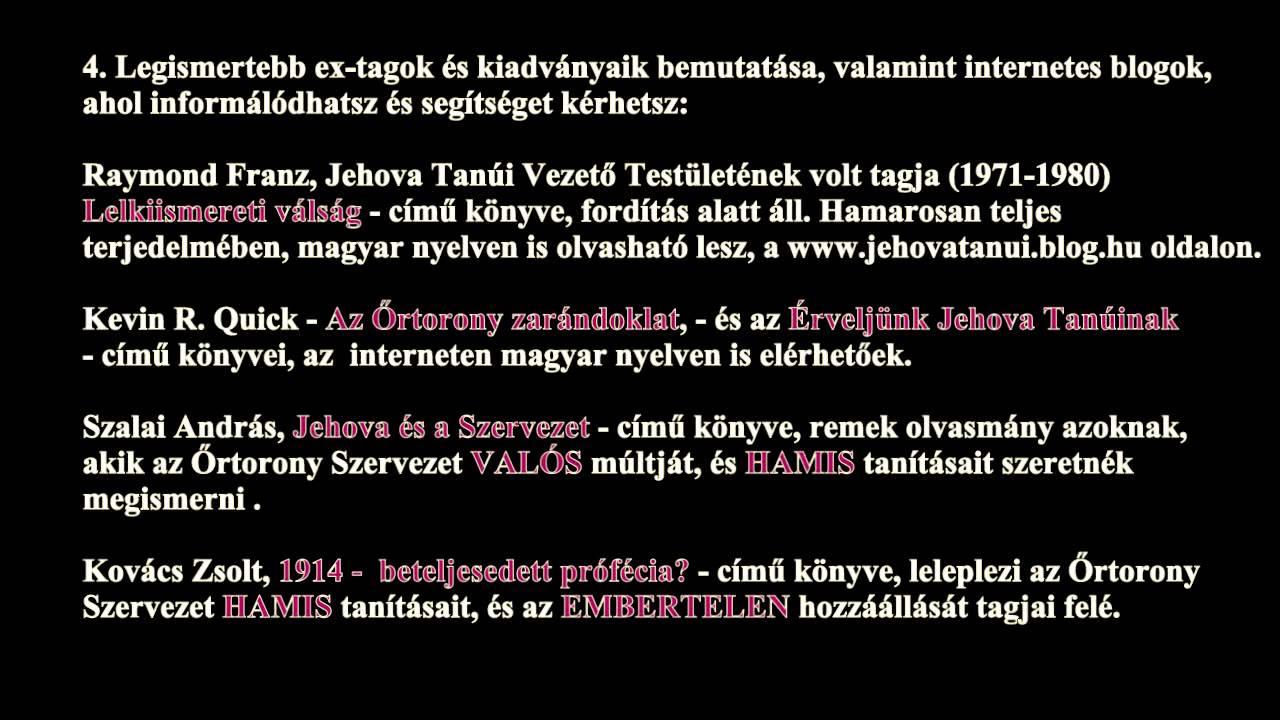 Jehova tanúinak weboldala sebesség társkereső cronulla