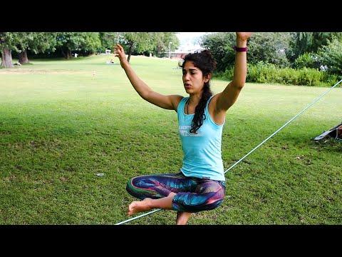 Slackline-Yoga Tutorial by Andrea Dattoli: The Buddha Pose
