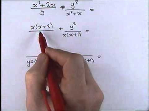 How to do Algebra    Part 1 10   Adding and Subtracting  Algebraic Fractions 1