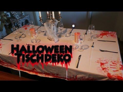 Halloween deko mit kindern basteln skelette aus waldholz - Tischdekoration halloween ...