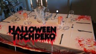 HALLOWEEN TISCHDEKORATION DIY - Party Deko Selber Machen / Basteln [ Last Minute Tipps Neu 2014 ] Thumbnail