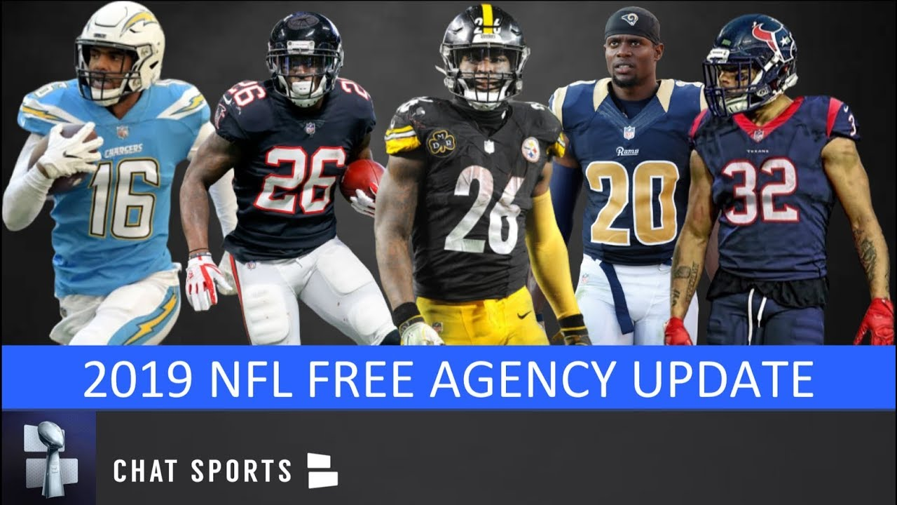 brand new bb6ce 64b35 NFL Rumors - Le'Veon Bell Free Agency 2019, Tyrann Mathieu, Lamarcus Joyner  & Tevin Coleman Updates