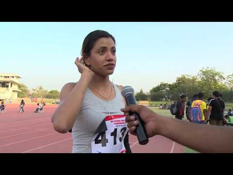 T45 46 47 Women's 100m with Interview