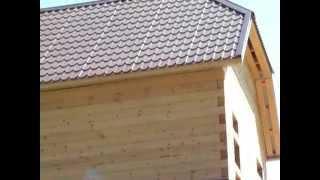 Деревянный дом из экологически чистого материала - профилированного бруса(Заказать постройку деревянного дома из профилированного бруса вы можете нашем сайте: http://fr-dom.justclick.ru/brus..., 2013-08-14T09:38:48.000Z)