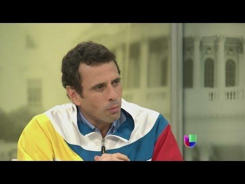 Adelanto de la entrevista exclusiva con Henrique Capriles - Noticiero Univisión