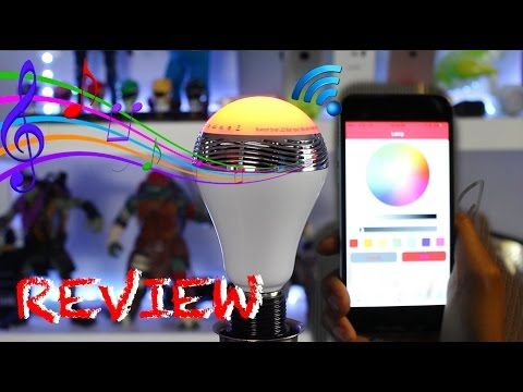 $22 Multicolor LED Smart Music Light Bulb Review +(Giveaway)