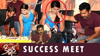 Heroine cries @ Killer Telugu Success Meet | Vijay Antony | Arjun Sarja | Ashima Narwal | Kolaigaran