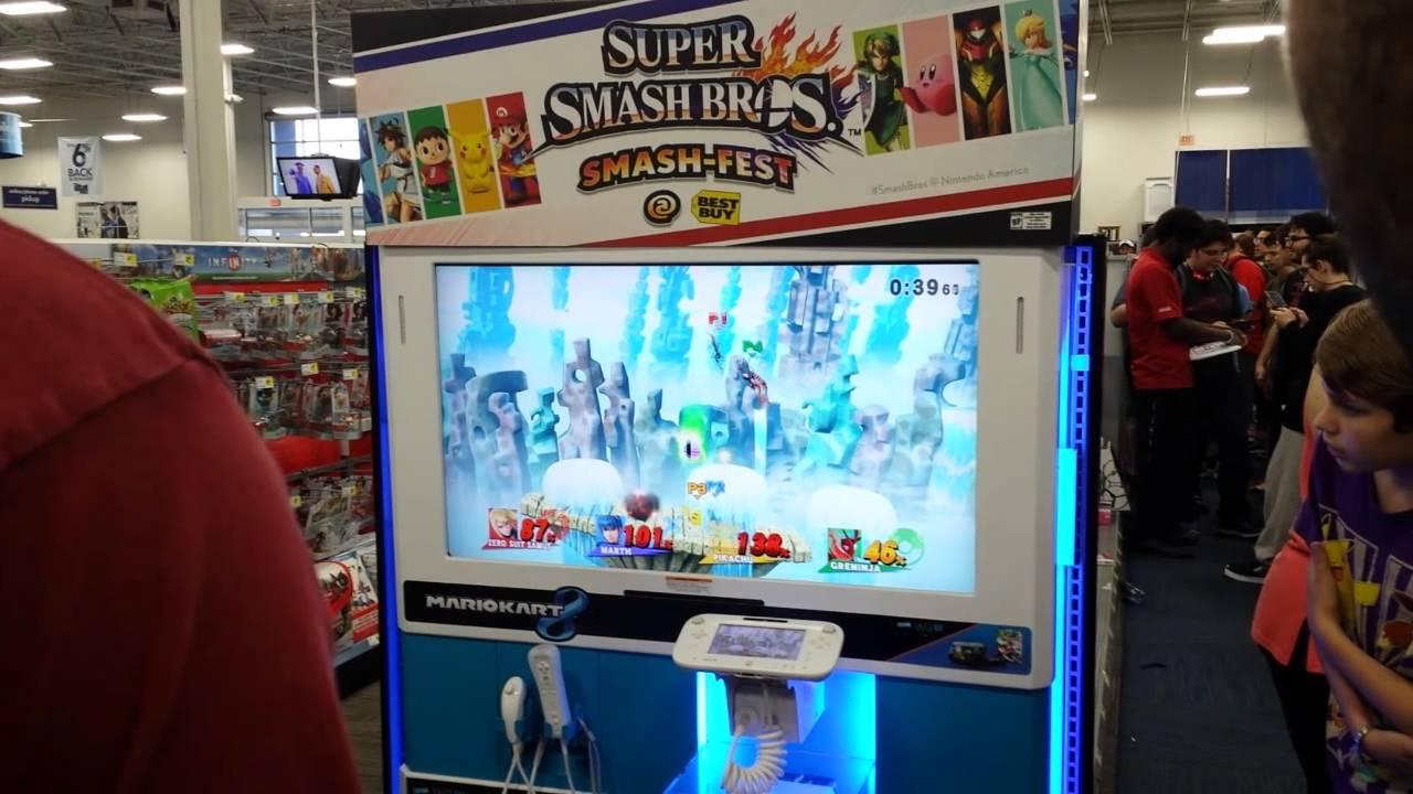 Wii U Arcade Machine : Nintendo smash fest bestbuy super bros wii u e
