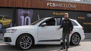 En directo, la entrega de coches a la plantilla del Barcelona