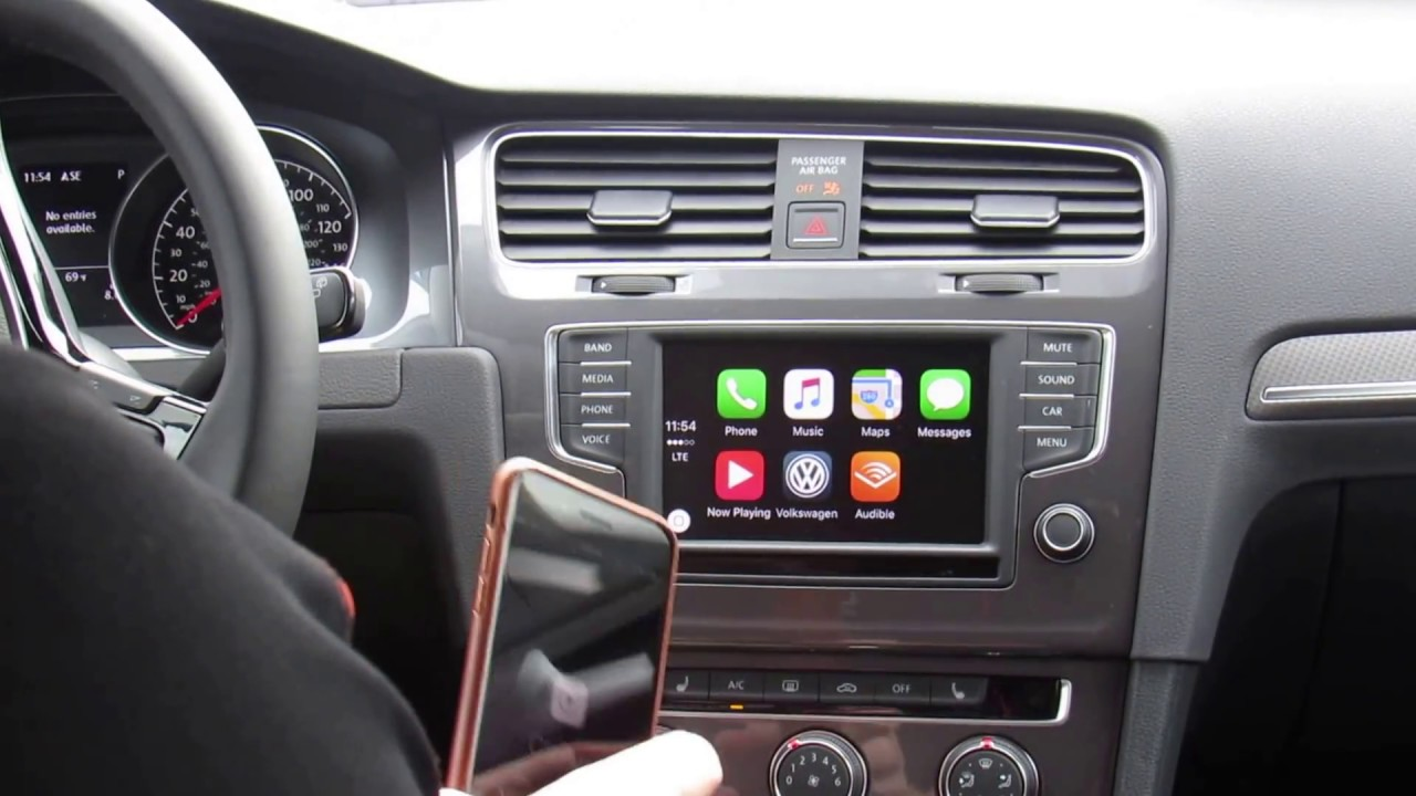 how to set up apple carplay in a volkswagen youtube. Black Bedroom Furniture Sets. Home Design Ideas