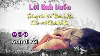 [Karaoke] Lời tình buồn - Vũ Thành An - Khánh Hà