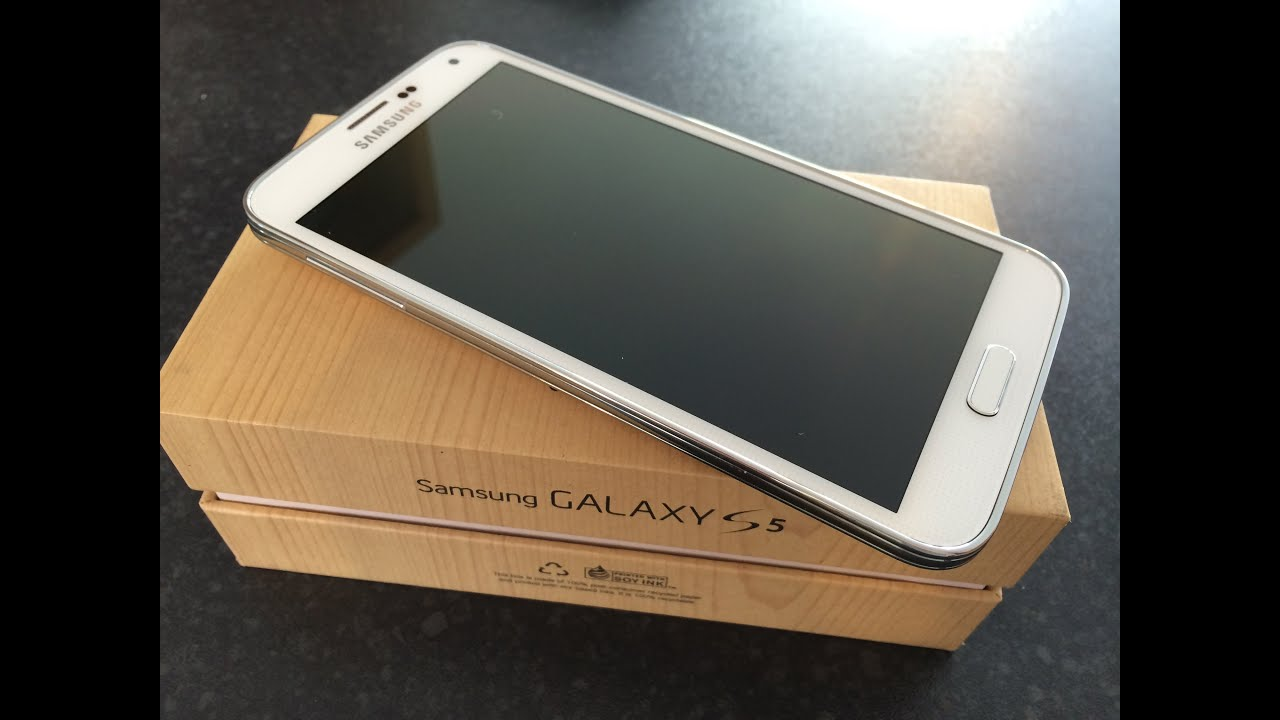Find A Code >> Samsung Galaxy S5 White Unboxing - YouTube