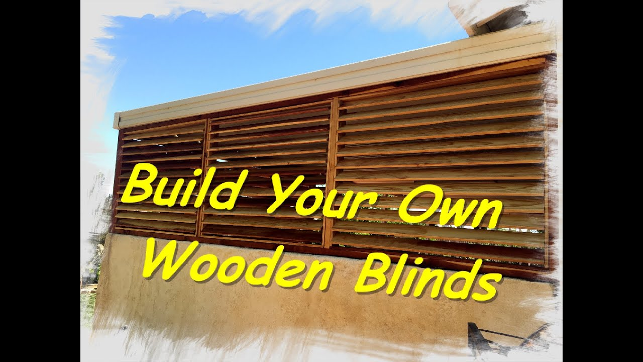 How to make wooden blinds youtube how to make wooden blinds solutioingenieria Gallery