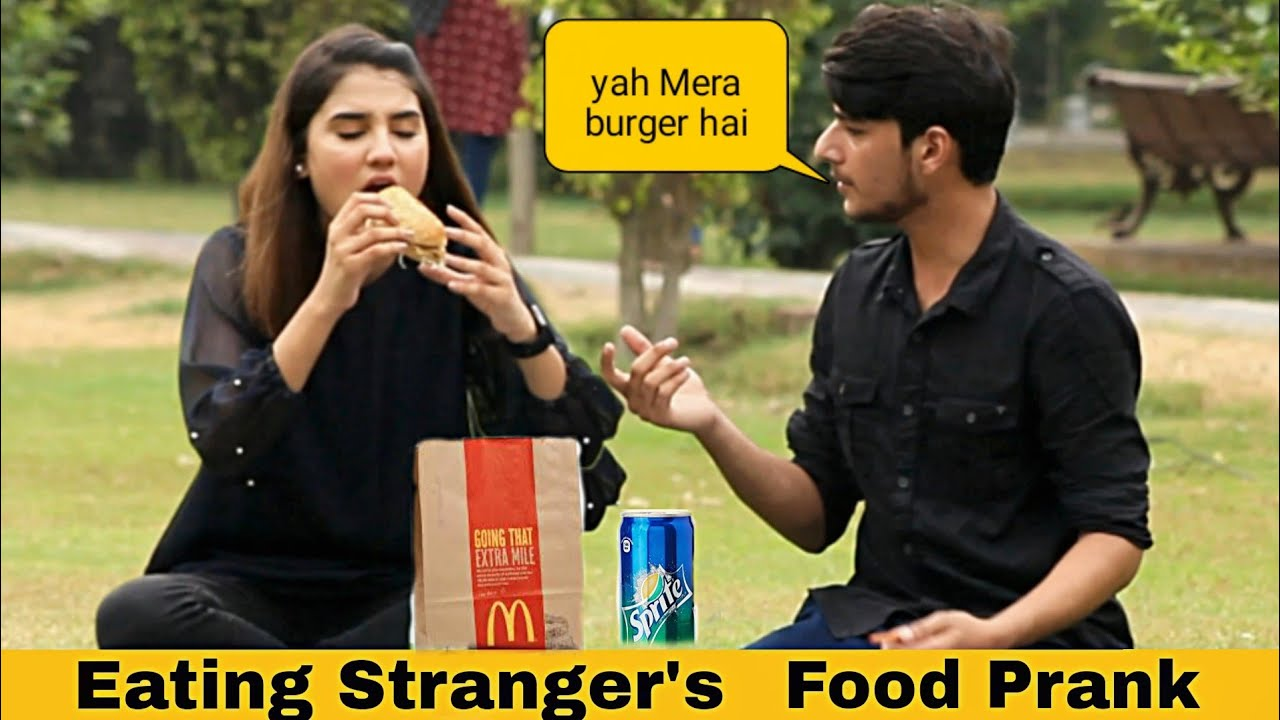 Eating Strangers Food Prank (Part 2) By Nimra Ali@Crazy Comedy