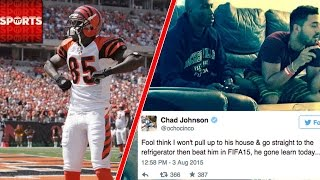 Chad Johnson Shows Up at Fan