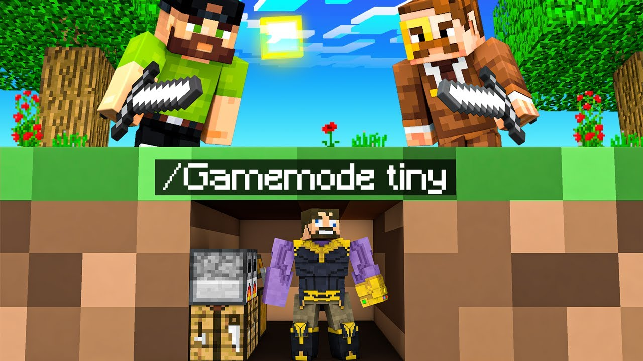 Download Shrinking THANOS in Insane Craft (Gamemode Tiny)