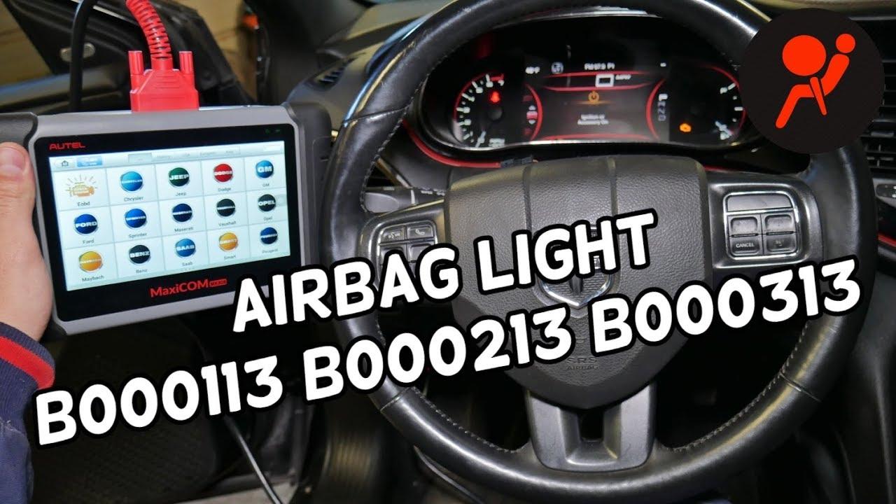 Code B000113 B000213 B000313 Airbag Light Dodge Jeep Chrysler