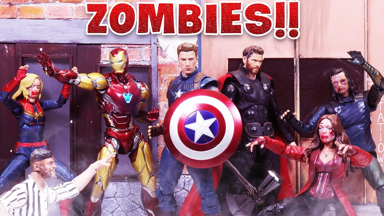 AVENGERS Trinity attacked by ZOMBIES | Figure Stopmotion