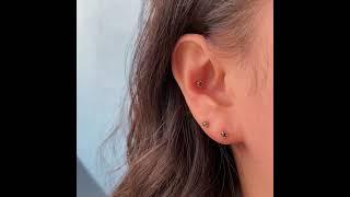 14K 미니미 러프다이아 피어싱 귀걸이 2.5mm (미…