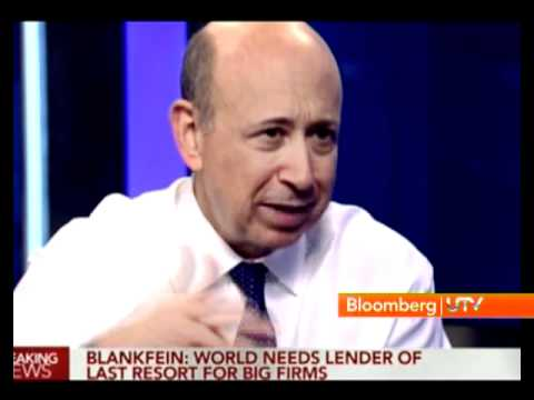 Bloomberg UTV Exclusive: One-On-One with LLoyd Blankfein - Part 2